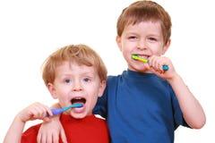 Pulisca i denti Fotografie Stock Libere da Diritti
