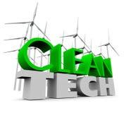 Pulisca i generatori eolici dell'energia rinnovabile dell'azienda agricola del mulino a vento di tecnologia Fotografia Stock