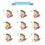 Pulisca i vostri denti illustrazione vettoriale