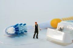 Pulisca i vostri denti Fotografie Stock Libere da Diritti