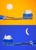 Pulisca i vostri denti immagine stock