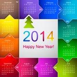 Pulisca il calendario murale 2014 di affari Immagine Stock Libera da Diritti