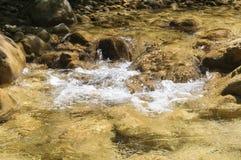 Pulisca il fiume della montagna Immagini Stock Libere da Diritti