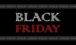 Pulisca il manifesto di vendita di promo dell'insegna di Black Friday Minimalistic ha barrato il contesto Immagini Stock