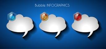 Pulisca il modello della disposizione di Infographic per l'analisi di informazioni e di dati Fotografie Stock Libere da Diritti