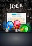 Pulisca il modello della disposizione di Infographic per l'analisi di informazioni e di dati Immagine Stock