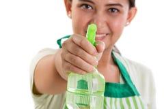 Pulisca il primo piano della bottiglia dello spruzzo Immagine Stock Libera da Diritti