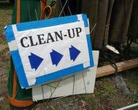 Pulisca il segno, pulizia nel New Jersey, U.S.A. Fotografia Stock