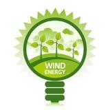 Pulisca l'energia di vento Immagine Stock