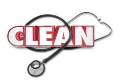 Pulisca l'esame rosso P del dottore Stethoscope Test Checkup delle lettere 3d di parola Fotografia Stock