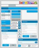 Pulisca l'insieme di elementi di web Fotografia Stock