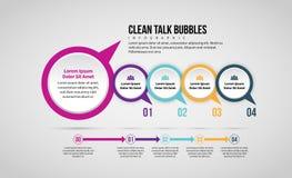 Pulisca la bolla Infographic di conversazione Fotografie Stock Libere da Diritti
