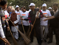 Pulisca la campagna dell'India Immagini Stock Libere da Diritti