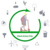 Pulisca la città verde Immagini Stock Libere da Diritti