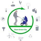 Pulisca la città verde Fotografia Stock Libera da Diritti