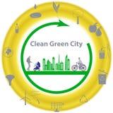 Pulisca la città verde Immagine Stock