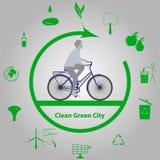 Pulisca la città verde Fotografia Stock