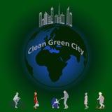 Pulisca la città verde Fotografie Stock