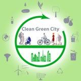 Pulisca la città verde Immagini Stock