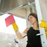 pulisca la finestra Fotografia Stock