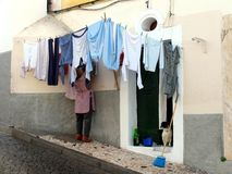 Pulisca la lavanderia Fotografia Stock Libera da Diritti