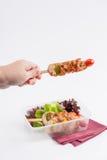 Pulisca la scatola di pranzo dell'alimento immagini stock