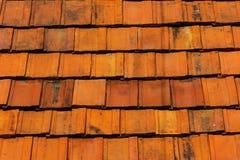 Pulisca la struttura del fondo delle mattonelle di tetto Immagine Stock Libera da Diritti