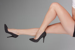 Pulisca le gambe Fotografie Stock