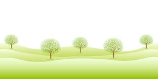 Pulisca le illustrazioni verdi fresche del fondo Fotografie Stock