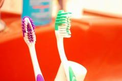 pulisce il dente Fotografia Stock