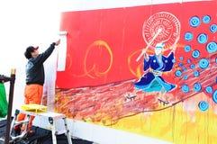 Pulitore dei graffiti Fotografia Stock