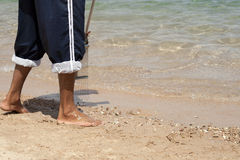 Pulitore della spiaggia Fotografia Stock Libera da Diritti