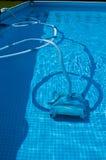 Pulitore dello stagno di Swimmng fotografia stock