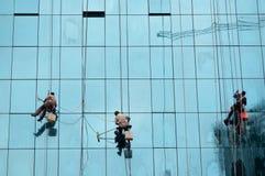 Pulitore di finestra Immagine Stock