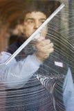 Pulitore di finestra Fotografia Stock Libera da Diritti