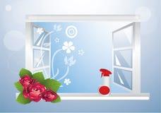 Pulitore di finestra Immagini Stock