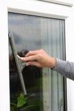 Pulitore di finestra Immagini Stock Libere da Diritti