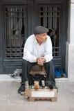 Pulitore di pattini a Costantinopoli Fotografie Stock Libere da Diritti