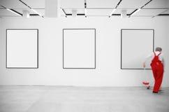 Pulitore in sala d'esposizione Fotografia Stock Libera da Diritti
