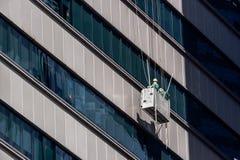Lavavetri di palazzo multipiano a Singapore immagine stock