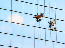Pulitori di finestra Fotografia Stock