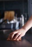 Pulitura della cucina Fotografia Stock Libera da Diritti