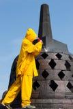 Pulizia ad alta pressione di salvataggio di Borobudur Fotografia Stock