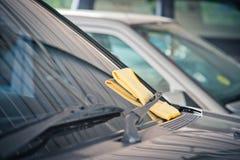Pulizia del vetro dell'automobile Fotografia Stock