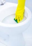 Pulizia del WC Fotografia Stock Libera da Diritti