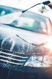 Pulizia dell'automobile della primavera Fotografia Stock Libera da Diritti