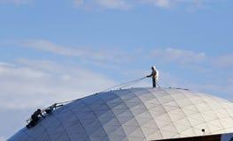 Pulizia della cupola di Imax Fotografie Stock