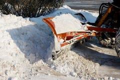 Pulizia della neve Immagine Stock
