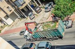 Pulizia della via del hours' di mattina in Rishon LeTsiyon fotografie stock