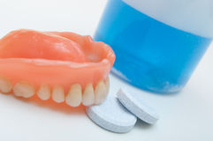 Pulizia dentale Fotografie Stock Libere da Diritti